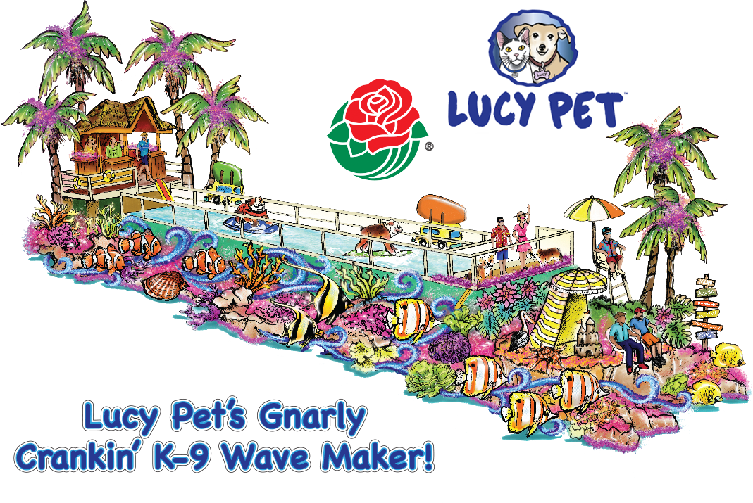 Concept Illustration for Lucy Pet's 2017 Rose Parade Float