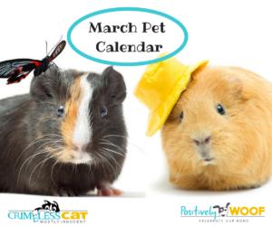 March Pet Calendar