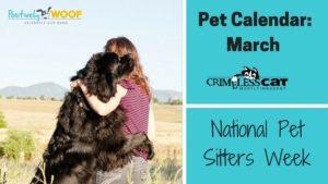 pet calendar pet sitters week