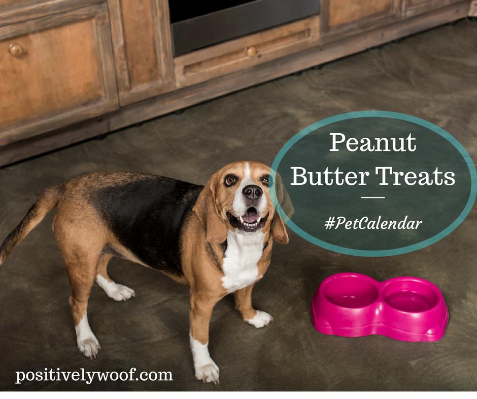 peanut butter treats pet calendar